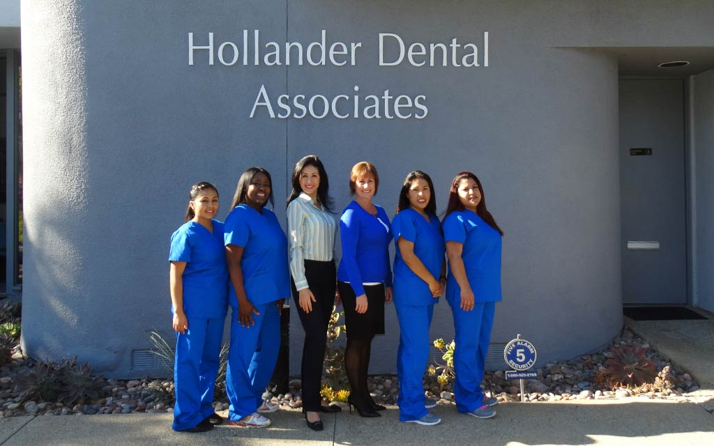 Anita Omidi DMD and her staff at Hollander Dental Associates Office in Carlsbad